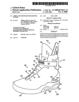 Illustration for article titled Nike Patent Gallery