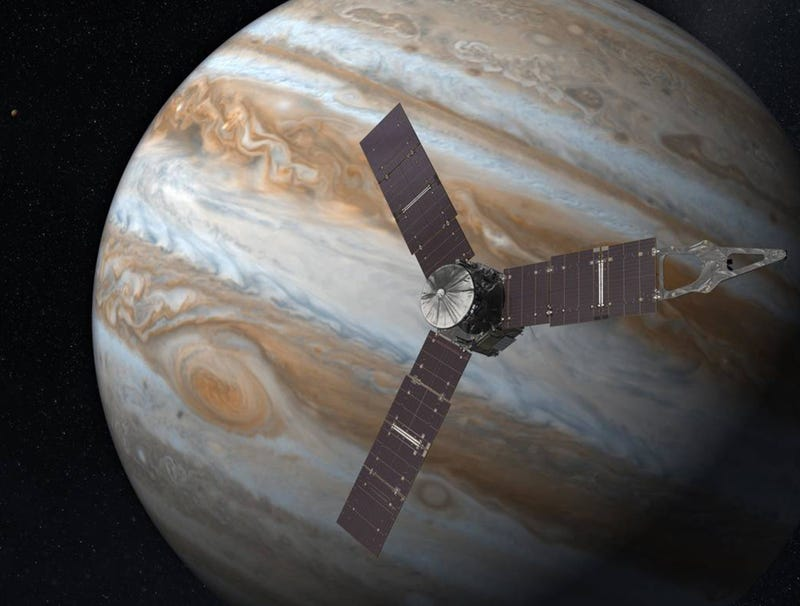 Illustration for article titled NASA Receives Info On Jupiter's Large Helium Deposits From Juno Probe's Squeaky, High-Pitched Transmission