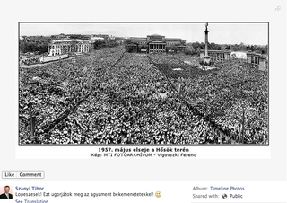 Illustration for article titled Szanyi Kapitány az 56-os forradalom leverésével büszkélkedik az fb-n?