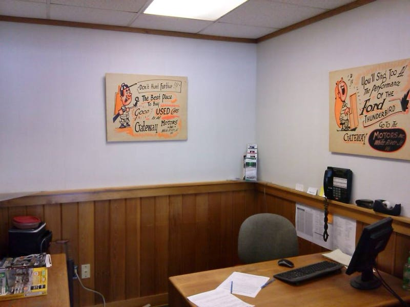Illustration for article titled Found some signs at the dealership today and put em in my office.