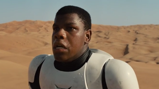 John Boyega as a Stormtrooper in the coming installment of the Star Wars series Disney