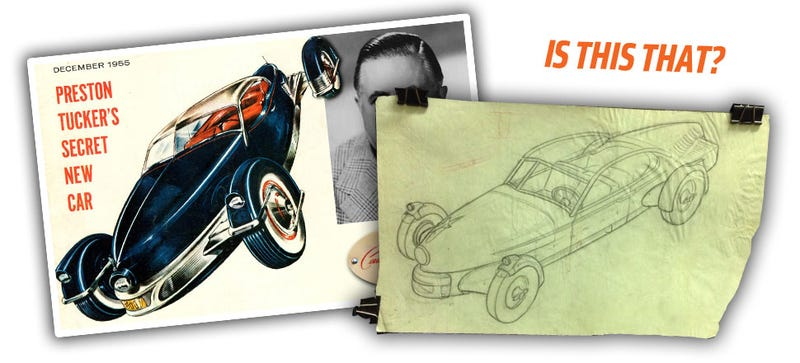 Illustration for article titled Did This Online Auction Reveal Preston Tucker's Never-Made Roadster?