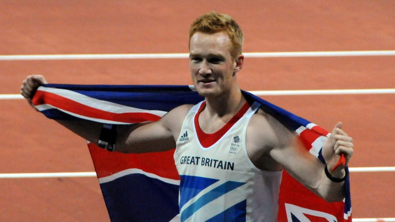 Greg Rutherford after winning the long jump at the 2012 Olympics in London. (Image: Tab59)