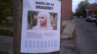 Illustration for article titled Daenerys Targaryen Takes to America's City Streets to Find Her Lost Dragons