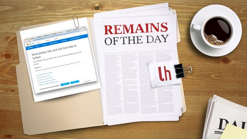 Illustration for article titled Remains of the Day: Microsoft Makes it Easy to Jump From Mac to Surface