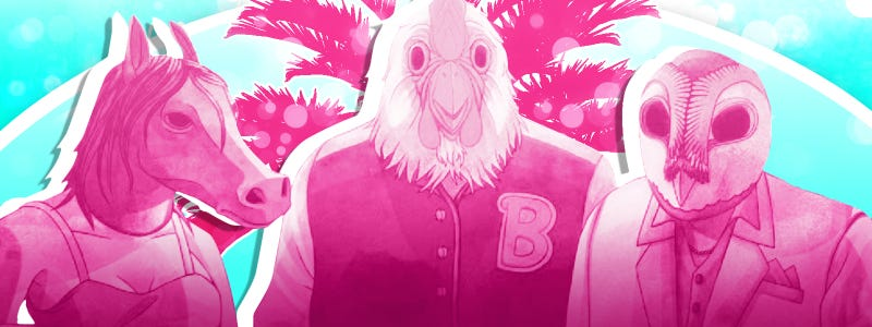 Illustration for article titled Even more Dark, Atmospheric Hotline Miami mashups!!