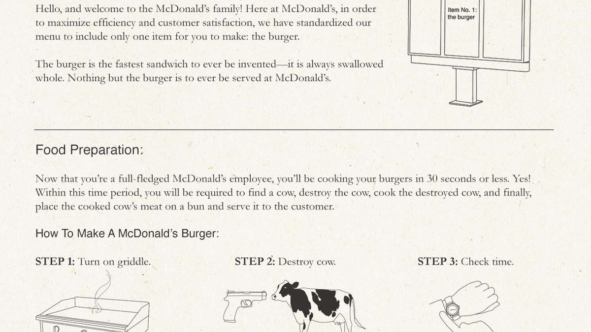 The Original McDonald's Employee Training Manual Is A Must-Read