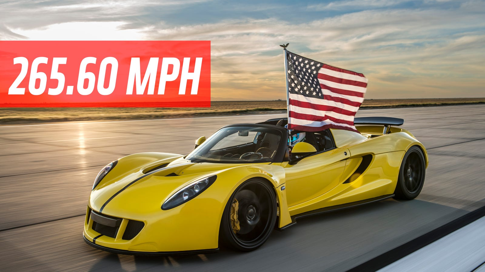 the hennessey venom gt spyder is the fastest convertible in the world at 265. Black Bedroom Furniture Sets. Home Design Ideas