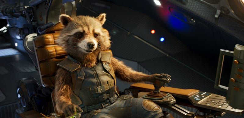 Rocket Raccoon flying in Guardians of the Galaxy Vol. 2. Image: Disney