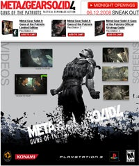 Illustration for article titled GameStop's MGS4 Launch Event Details