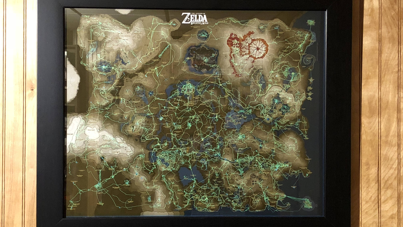 photograph about Printable Legend of Zelda Map identified as Zelda Participant Turns Map Developments Into Wall Artwork