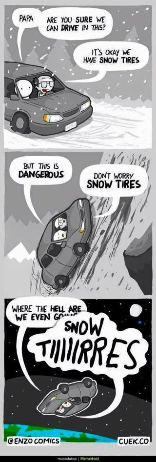 Illustration for article titled SNOWTIRESSNOWTIRESSNOWTIRES