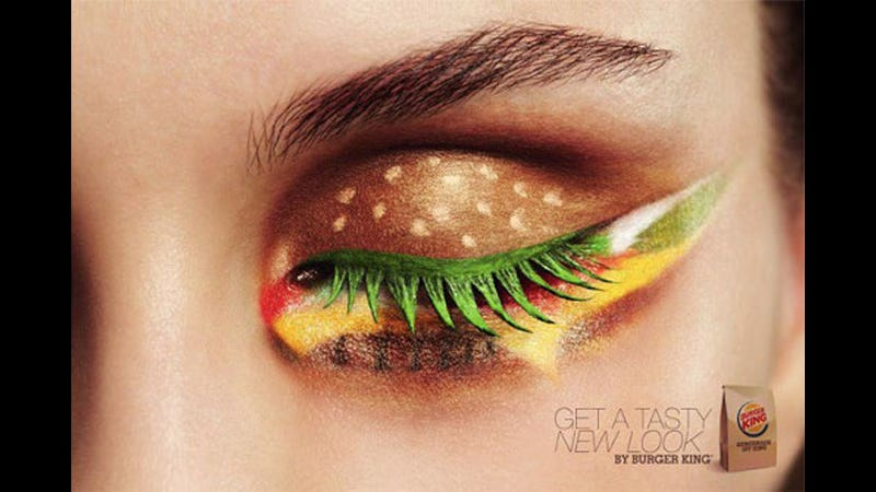 Illustration for article titled Make Your Eyes Look Delicious With Burger King Eye Makeup