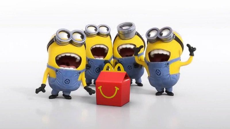 Illustration for article titled Parents outraged as McDonald's Minions toys swear at their kids