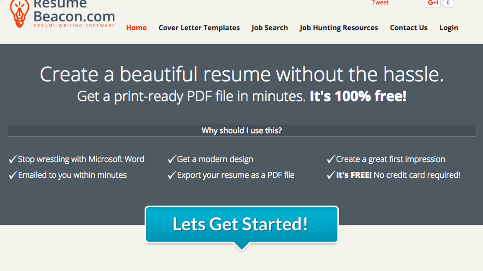 Resume Beacon Is A Simple Free NonFlashy Online Resume Builder