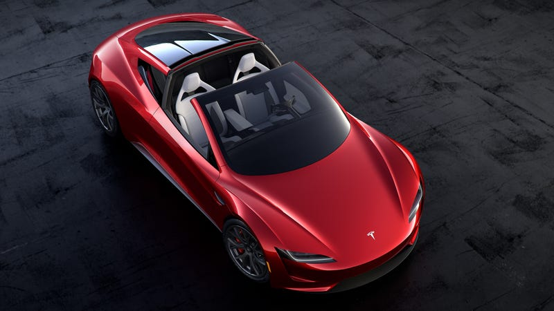 Illustration for article titled The new Tesla Roadster isn't a roadster, it's a targa