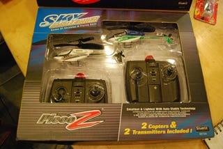 Illustration for article titled PicooZ Sky Challenger Laser Tag R/C Choppers Selling Soon