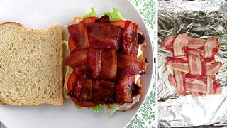 Illustration for article titled Get Bacon in Every Bite of Your BLT with the Basket Weaving Technique