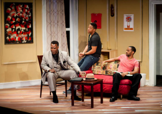 Scene fromKeith Josef Adkins' The Last Saint on Sugar Hill, currently playing at the National Black Theatre in HarlemChristine Jean Chambers