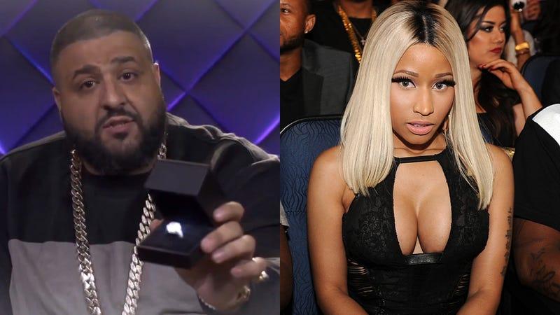 Illustration for article titled Watch DJ Khaled's Hilariously Sincere Proposal Video for Nicki Minaj