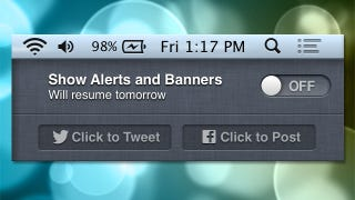 Illustration for article titled Roll Your Own Do Not Disturb Mode for OS X's Notification Center