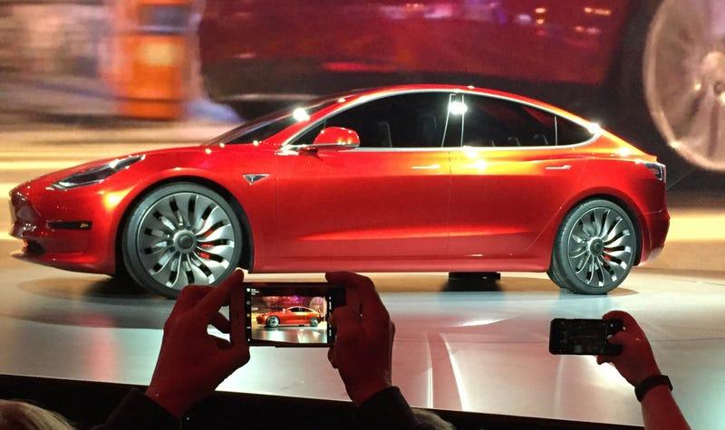 Tesla Model 3. AP