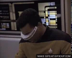 Watch Patrick Stewart's unprofessionalism in Star Trek: TNG