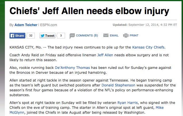 Yeah, Screw You, Jeff Allen