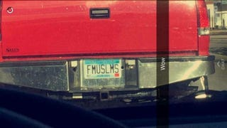 A snap of the offensive Minnesota license plate confiscated by policeHaji Yusuf viaFacebook