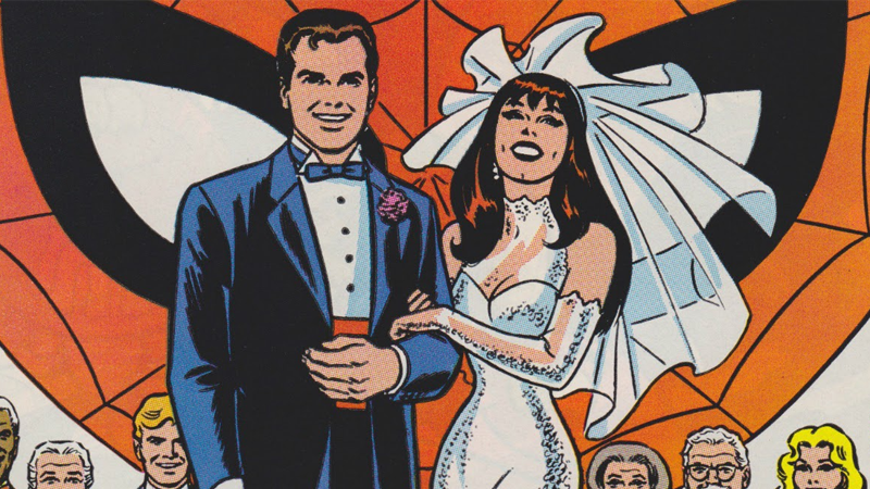 Image result for peter parker and mary jane wedding