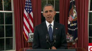 President Barack Obama addressed the nation from the Oval Office Dec. 6, 2015.  CNN Screenshot