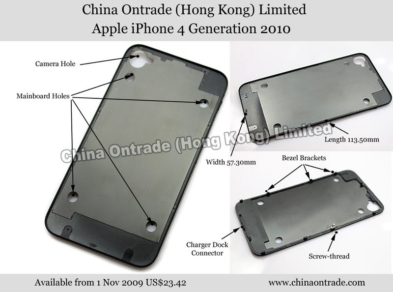 Illustration for article titled This Is a Next-Generation iPhone 4 Part, China Ontrade Claims