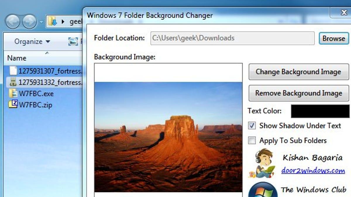 Windows 7 Folder Background Changer Adds Flair to Windows
