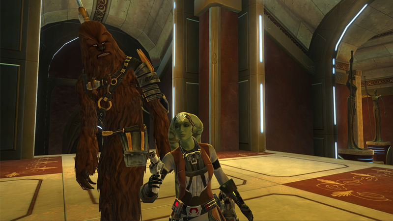 Illustration for article titled A fellow Smuggler just came on to my SWTOR character...