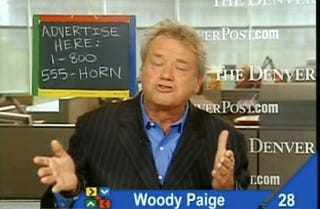 Illustration for article titled Woody Paige Wants You To Call A Phone Sex Line