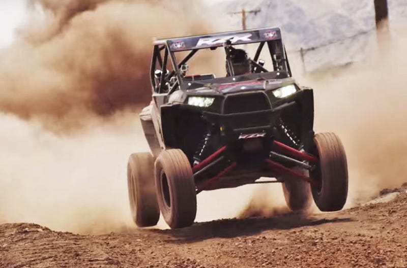 RJ Anderson making the RZR a hit. (Image Credit: UTVUnderground/YouTube)