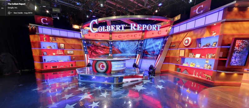 Illustration for article titled Explore The Colbert Report Set on Street View Before It's Ripped Down