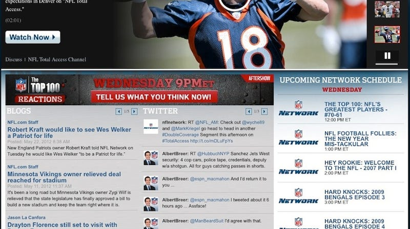 """Illustration for article titled Albert Breer Calling Someone From ESPN """"Assface"""" Is Currently Front-Page News On The NFL Network's Website"""