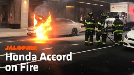 Lamborghini Huracan Spyder Catches Fire Near Boston Public Library