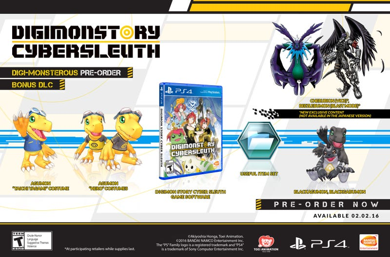 Illustration for article titled Digimon Story: Cyber Sleuth Launches February 2, 2016 with Preorder Bonus
