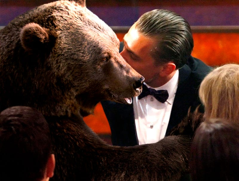 Illustration for article titled Leonardo DiCaprio Kisses Bear Before Going Up To Receive Oscar