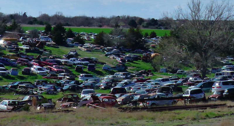 Help Us Spot the Incredible Cars in This Kansas Junkyard