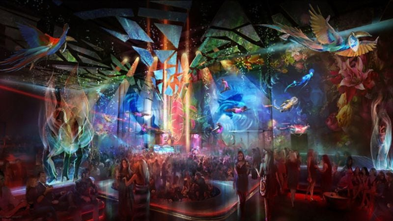 Illustration for article titled Cirque Du Soleil teaming up with Skrillex to launch a trippy new Vegas nightclub/circle of Hell
