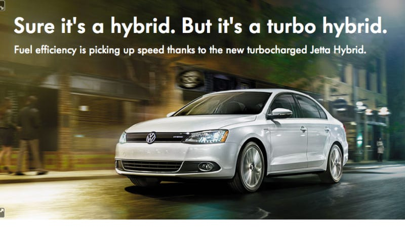 "Illustration for article titled Is Volkswagen Convincing Anyone With Their ""Turbo"" Hybrid Jetta?"