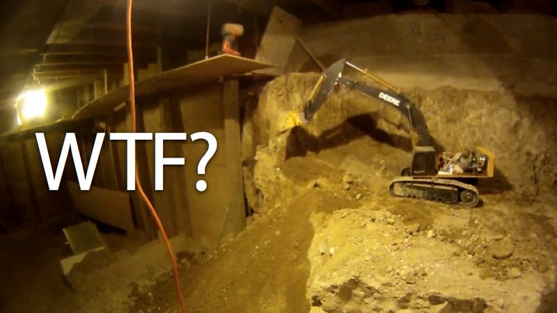 Digging Out Basement Part - 20: A Canadian Guy Named Joe Has Been Digging Out The Basement Of His House  Using Nothing But Radio-controlled Scale Model Construction Equipment...  Since 1997.