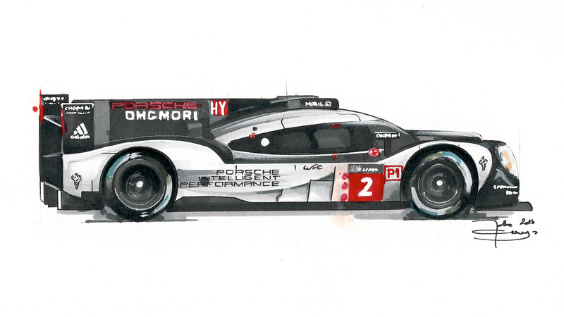 Illustration for article titled Updated With This Year's Winner: Here In One GIF, All The Porsche Race Cars That Ever Won Le Mans