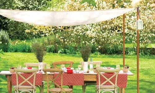 Weu0027ve already shown you how to create a shaded rustic outdoor retreat bit when you have people over youu0027ll need a slightly larger shaded escape from that ... & Create Your Own Cheap Weather-Shielding Outdoor Canopy