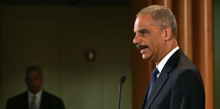 U.S. Attorney General Eric Holder delivers statement on Supreme Court's Voting Rights Act decision (Mark Wilson/Getty Images)