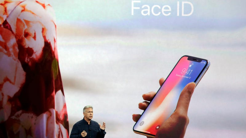 Phil Schiller Apple's senior vice president of worldwide marketing announces features of the new iPhone X including Face ID
