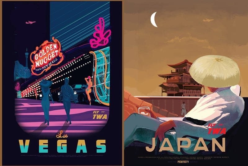 Illustration for article titled Travel Posters Inspired By Street Fighter